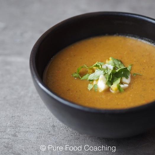 aubergine kikkererwt soep